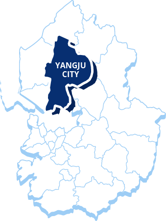 The Map of Yangju city : It provide infomation of Location of Yangju city